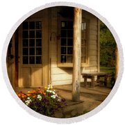 The Old General Store Round Beach Towel