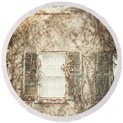 The Old Governor's Mansion Round Beach Towel