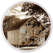 The Old Gristmill  Round Beach Towel