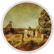 The Old Hay Barn Round Beach Towel