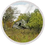 The Old Homestead And Orchard Round Beach Towel
