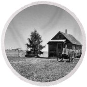 The Old Homestead Paint Round Beach Towel