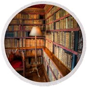 The Old Library Round Beach Towel