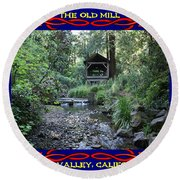 The Old Mill 2 Round Beach Towel