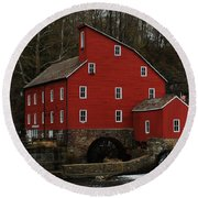 The Old Mill In Clinton Nj Round Beach Towel