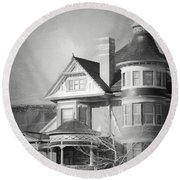 The Old House Round Beach Towel
