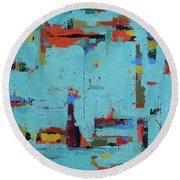 The Neighborhood Round Beach Towel
