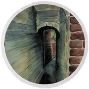 The Old Passageway Round Beach Towel