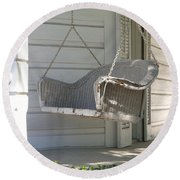 The Old Porch Swing. Round Beach Towel