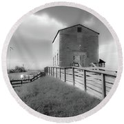 The Old Pump House Round Beach Towel