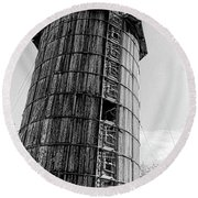 The Old Silo Round Beach Towel