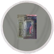 The Old Soldier's Gone Round Beach Towel