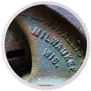The Old Stamp Mill- Findley Mine Round Beach Towel