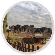 The Old West Round Beach Towel