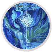 The Oonahnahmae Universe Book Cover Round Beach Towel