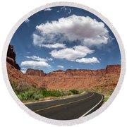 The Open Road - Utah Round Beach Towel
