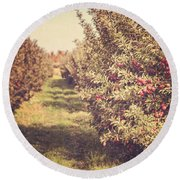 The Orchard Round Beach Towel by Lisa Russo