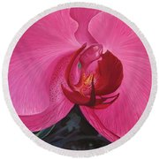 The Orchid In San Juan Round Beach Towel