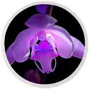 The Orchid Magic Round Beach Towel