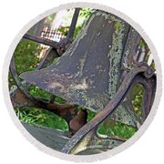 The Original Bell Of Oak Hill Cemetery Round Beach Towel
