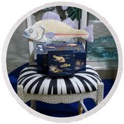 The Original Fish Chair  Round Beach Towel