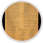 The Original United States Constitution Round Beach Towel