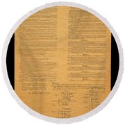 The Original United States Constitution Round Beach Towel