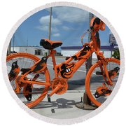 The Orioles Bicycle Round Beach Towel