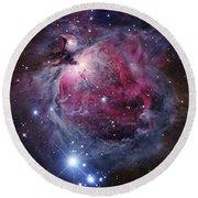 The Orion Nebula Round Beach Towel by Robert Gendler