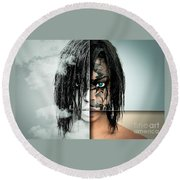 The Other Half Of Me Round Beach Towel