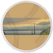 The Other Side Of The Bridge Round Beach Towel