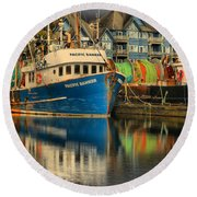 The Pacific Banker Round Beach Towel