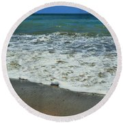 The Pacific Ocean Round Beach Towel