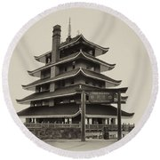 The Pagoda - Reading Pa. Round Beach Towel