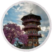 The Pagoda In Spring Round Beach Towel