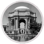 The Palace Of Fine Arts Round Beach Towel