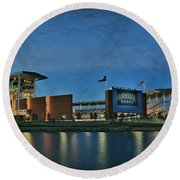 The Palace On The Brazos Round Beach Towel