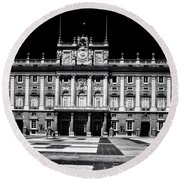 The Palacio Real, Madrid  Round Beach Towel