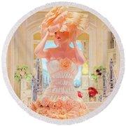 The Palazzo Casino Venetian Rose Dress Round Beach Towel