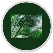 The Palm House Kew England Round Beach Towel