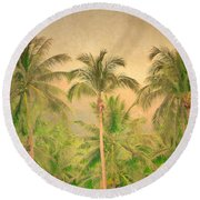 The Palms Round Beach Towel