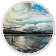 The Panoramic Painting Round Beach Towel