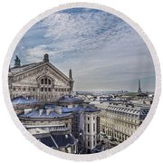 The Paris Opera 5 Art Round Beach Towel