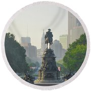 The Parkway - Philadelphia Pa Round Beach Towel