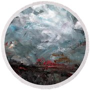The Passing Storm Round Beach Towel