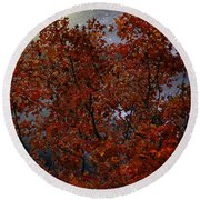 The Passion Of Autumn Round Beach Towel