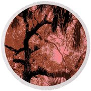 The Passion Of The Oak Round Beach Towel