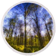 The Pastel Forest Round Beach Towel