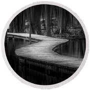 The Path Of Life Round Beach Towel
