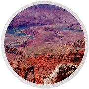 The Path Of The Colorado River Round Beach Towel